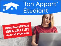 Ton Appart' Etudiant, service gratuit pour trouver un logement étudiant